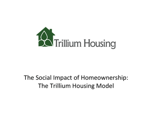 Trillium Housing social impact report